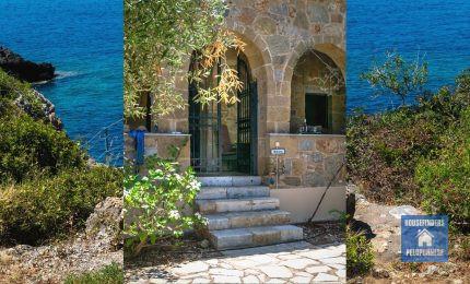 hyr hus grekland badplats fonea stranden kardamyli